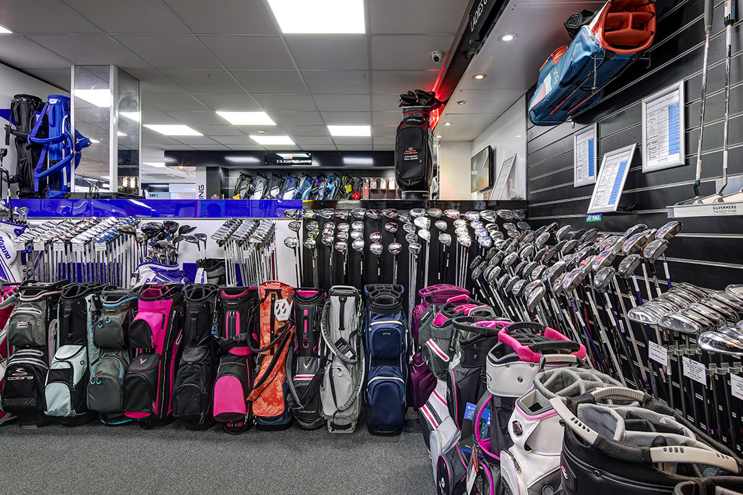 The club department at Silvermere Golf Store