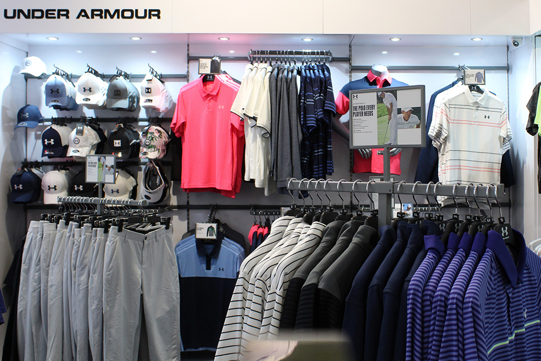 Under Armour clothing at Silvermere Golf Store